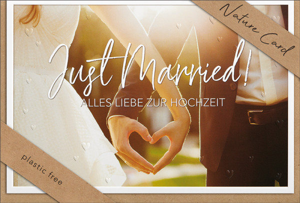 "Doppelkarte ""Just Married"""