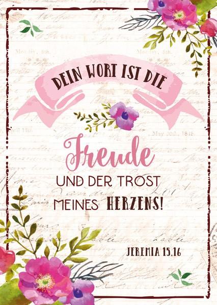 """Postkarte """"Dein Wort ist die Freude"""""""