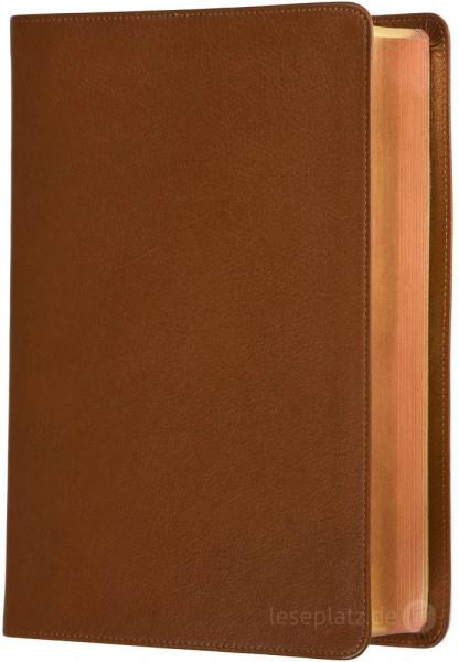 Elberfelder 2003 - Standardausgabe mit Notizseiten / Leder hellbraun / Rotgoldschnitt