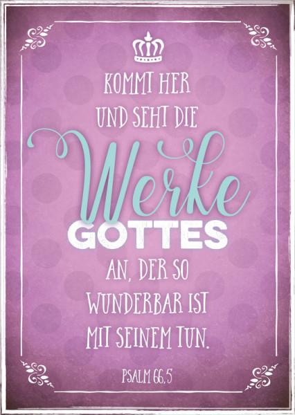 "Postkarte ""Werke Gottes"""