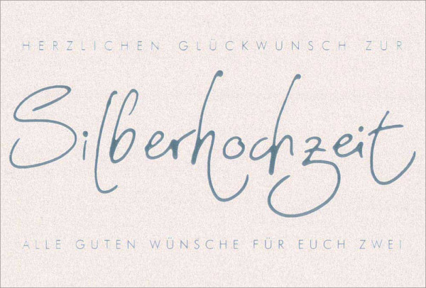 "Doppelkarte ""Silberhochzeit"""
