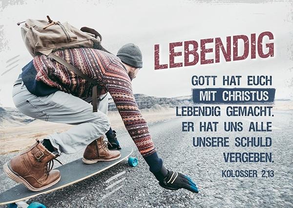 """Postkarte """"Lebendig"""""""