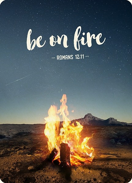 """Postkarte - Big Blessing """"Be on fire"""""""
