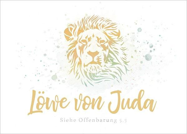 """Postkarte - Big Blessing """"Löwe von Juda"""""""