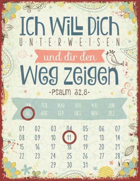 """Magnetkalender """"Ich will dich unterweisen ..."""""""