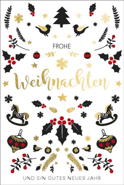 Faltkarte `Frohe Weihnachten und ein gutes neues Jahr`