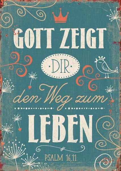 "Postkarte ""Gott zeigt"""