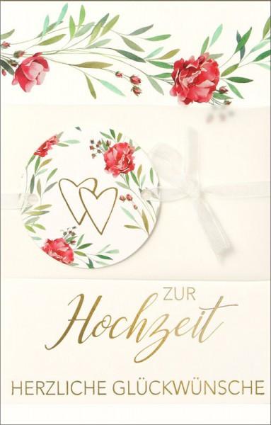 """Faltkarte """"Pergament mit Schleife """" - Hochzeit"""