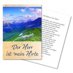 Faltkarte ''Der Herr ist mein Hirte''