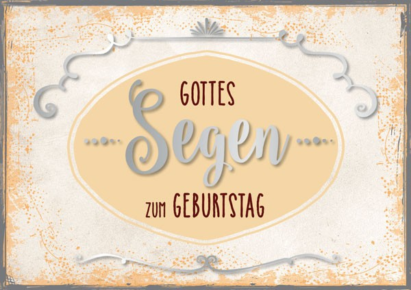 "Faltkarte ""Gottes Segen"" - Geburtstag"