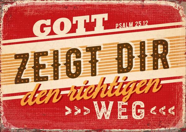 """Postkarte """"Der richtige Weg"""""""