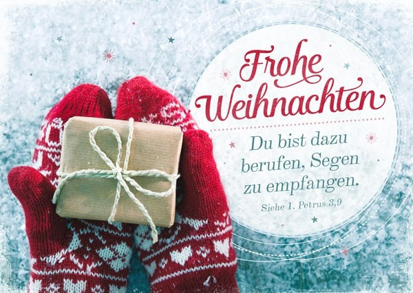 Postkarte - Frohe Weihnachten - Berufen