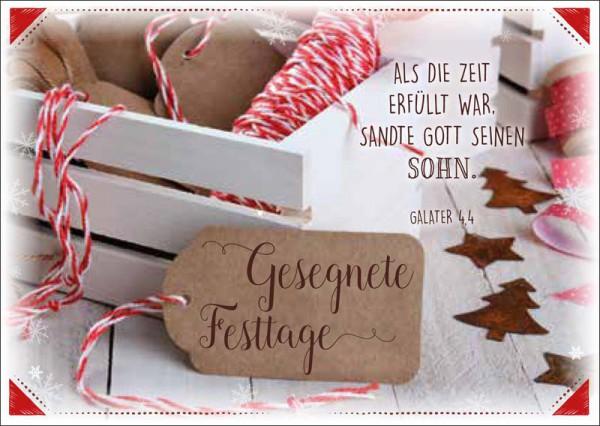 "Postkarte ""Weiße Holzkiste"""