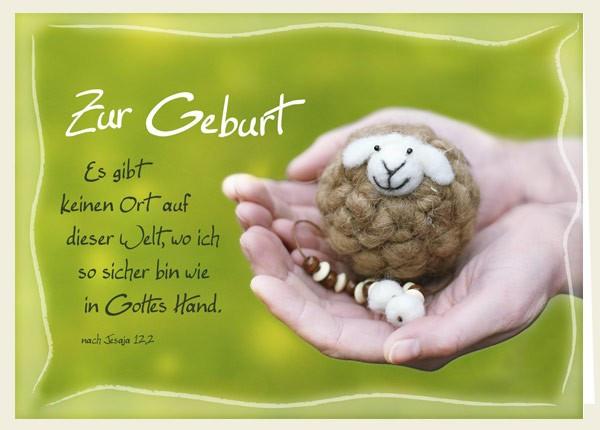 "Faltkarte ""In Gottes Hand"" - Zur Geburt"