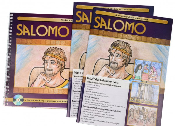 Salomo Textheft / Arbeitsmaterial / Ringbuch mit 31 Bildern inkl. CD-ROM mit Text und Vorlagen