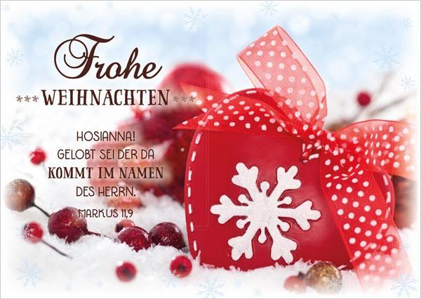 """Postkarte """"Herz mit Schleifchen"""""""