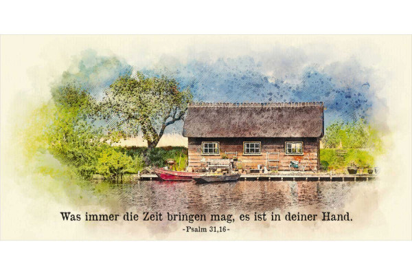 "Faltkarte Art 05 ""Bootshütte"""