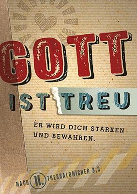 """Postkarte """"Gott ist treu"""""""