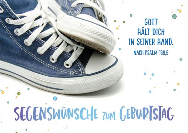 """Doppelkarte """"Blaue Sneakers"""""""