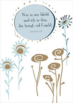 """Postkarte """"Wer in mir bleibt und ich in ihm ..."""""""