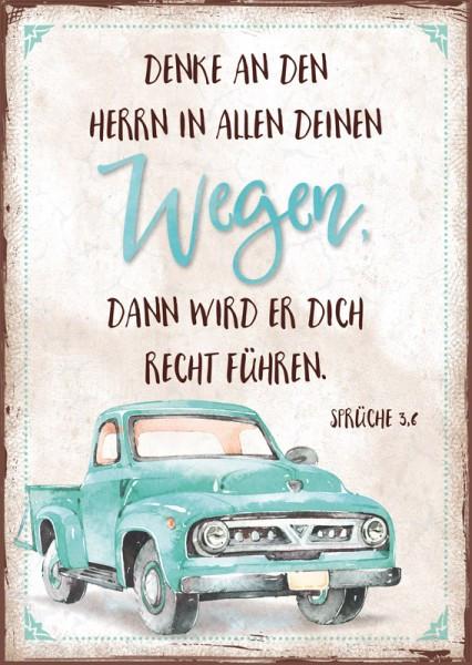 """Postkarte """"Wegen / Pickup"""""""
