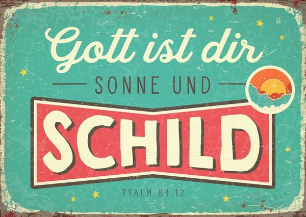 "Postkarte ""Gott ist dir..."""