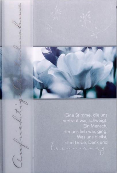 """Faltkarte """"Tulpen"""" - Trauer"""