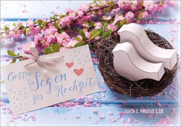 """Faltkarte """"Vogelnest"""" - Hochzeit"""