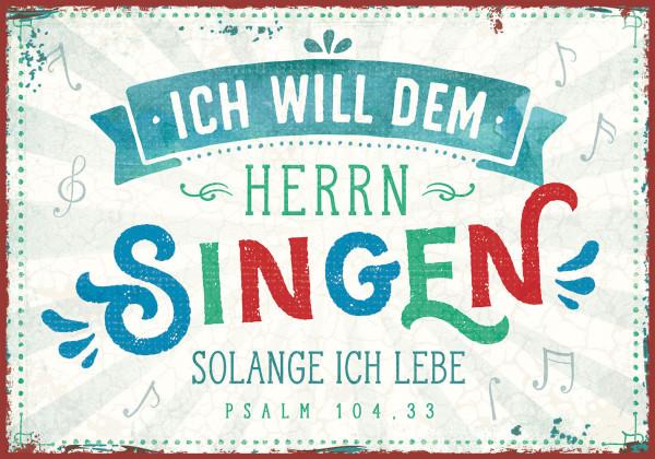 """Metallschild - """"Dem Herrn singen"""""""