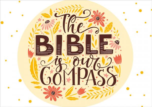 "Postkarte ""Bible Compass"""