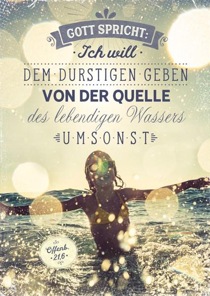 """Postkarte """"Jahreslosung 2018 (Wasser)"""""""