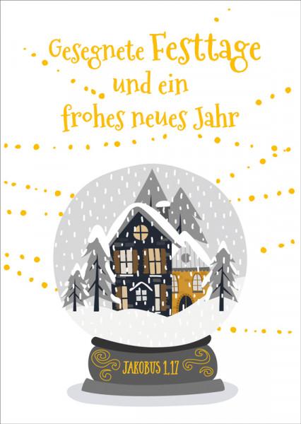 "Postkarte ""Schneebild"""