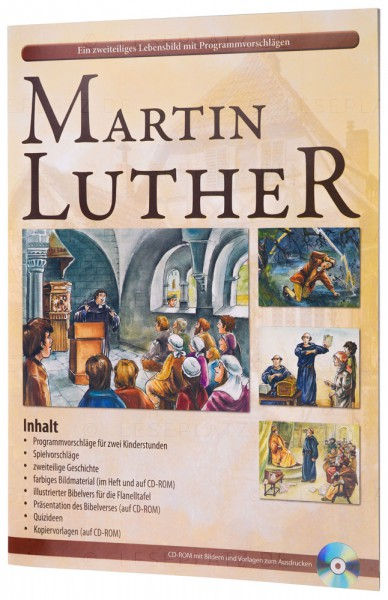 Martin Luther - Bilderheft mit Text und 12 farbigen Illustrationen, inkl. CD-ROM