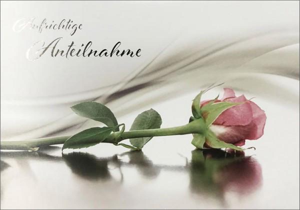"""Faltkarte """"Rosa Rose"""" - Trauer"""