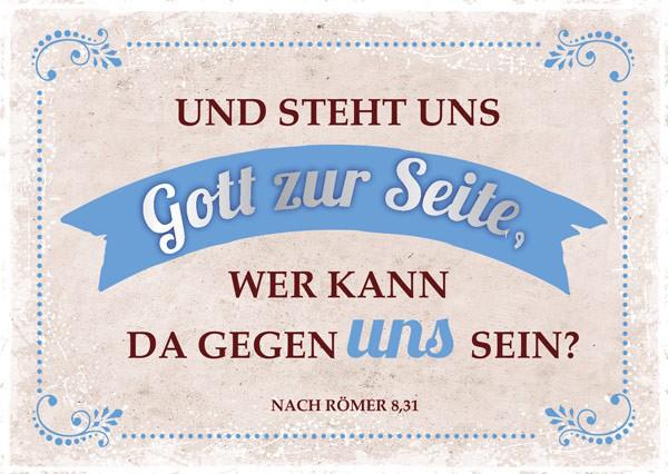 """Postkarte """"Und steht uns"""""""