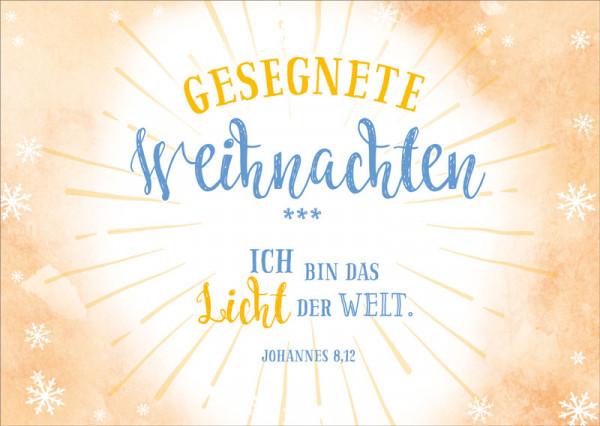 """Postkarte """"Das Licht der Welt"""""""