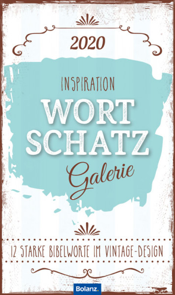 Inspiration Wortschatzgalerie 2020 - Posterkalender