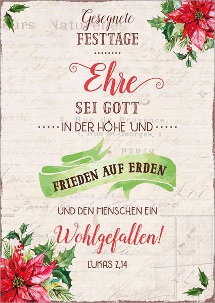 """Postkarte """"Ehre sein Gott"""""""