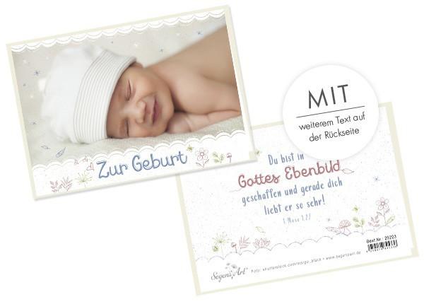 """Faltkarte """"Zur Geburt - Gottes Ebenbild"""""""