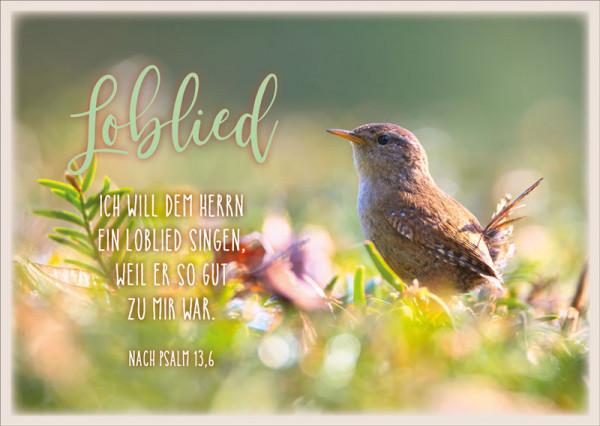 """Postkarte """"Loblied"""""""