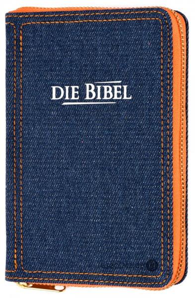 Elberfelder 2003 - Pocketausgabe / Jeans / Reißverschluss