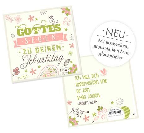 """Faltkarte """"Segen zu deinem Geburtstag"""""""