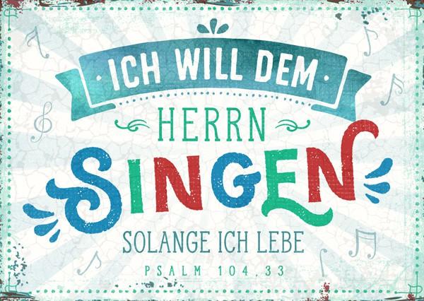 """Postkarte """"Dem Herrn singen"""""""