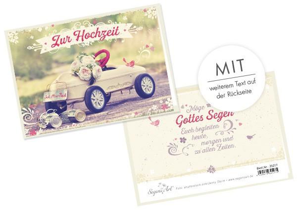 """Faltkarte """"Zur Hochzeit - Just married"""""""