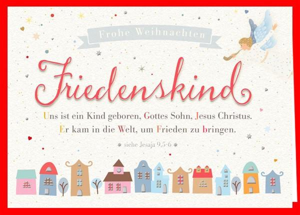 "Faltkarte ""Friedenskind"""